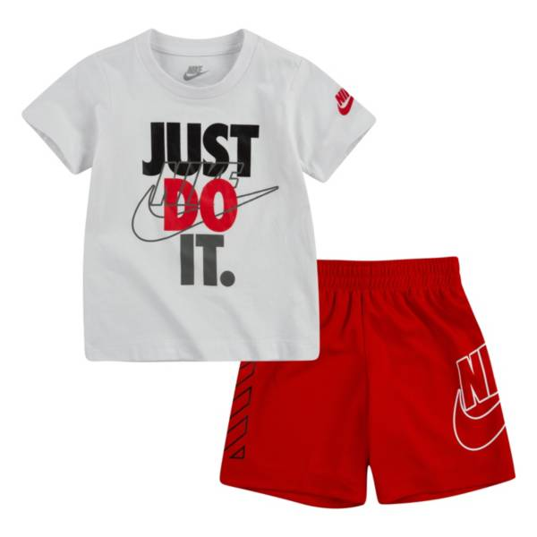 Nike Boys' Dri-FIT Just Do It Short Sleeve Tee and Short Set product image