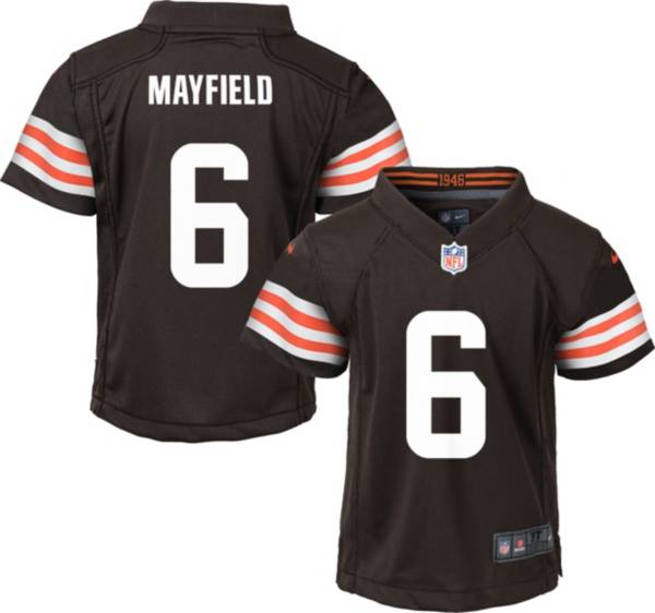 Nike Boys' Cleveland Browns Baker Mayfield #6 Brown Game Jersey product image