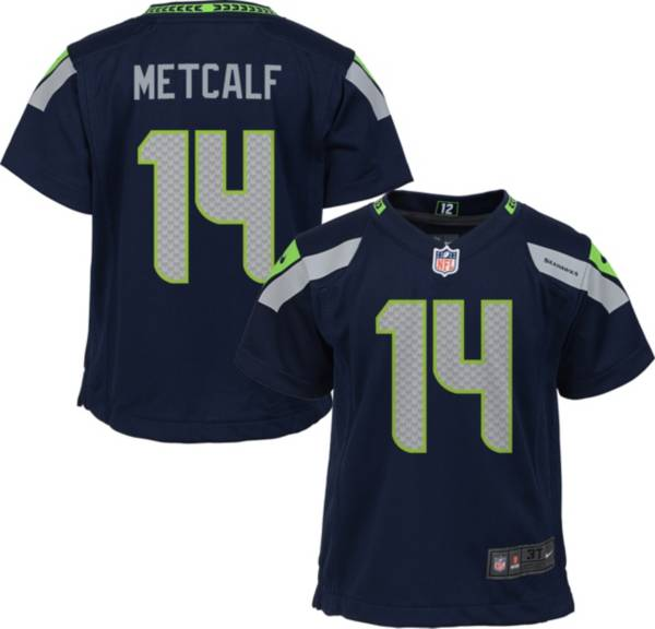 Nike Boys' Seattle Seahawks D.K. Metcalf #14 Navy Game Jersey product image