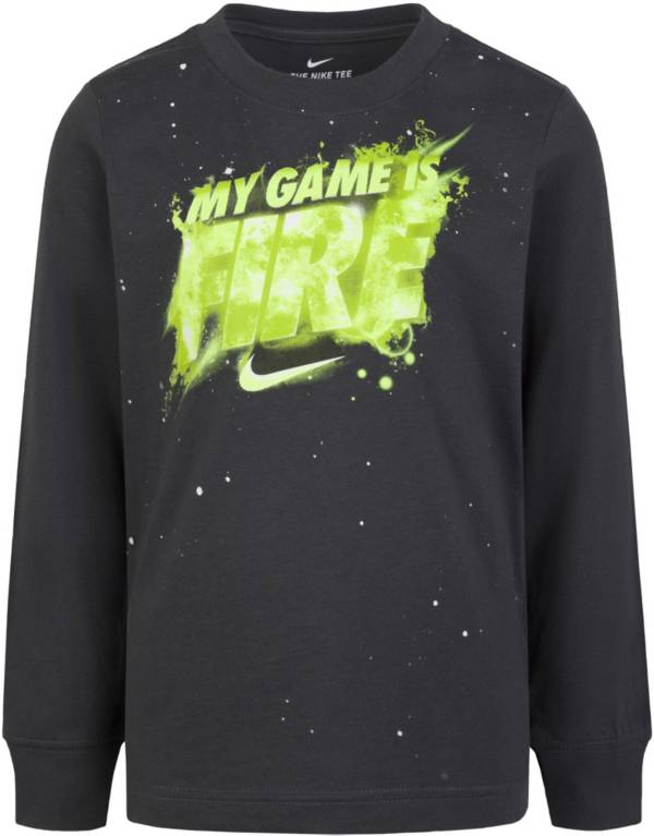 Nike Boys' My Game is Fire Long Sleeve T-Shirt product image