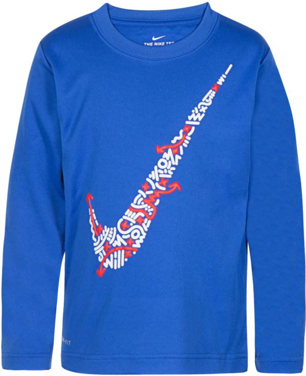 Nike Boys' Play Lines Swoosh Dri-FIT Long Sleeve T-Shirt product image