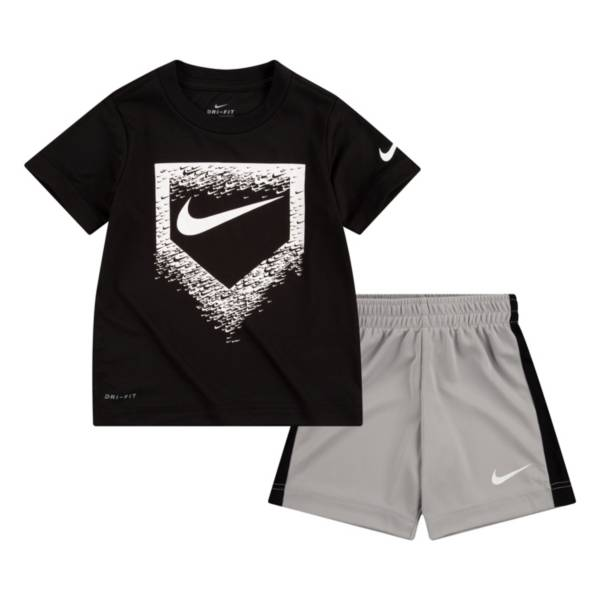 Nike Boys' Dri-FIT Baseball Plate Short Sleeve Tee and Short Set product image
