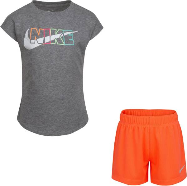Nike Little Girls' After Glow T-Shirt and Mesh Shorts Set product image