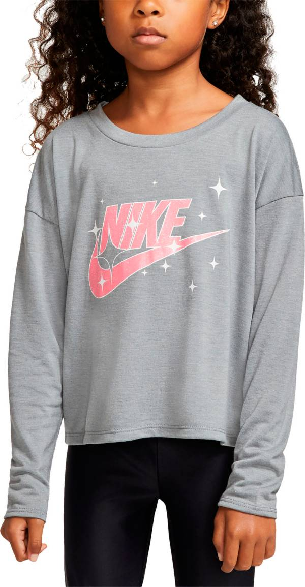 Nike Little Girls' Futura Logo Graphic Long Sleeve T-Shirt product image