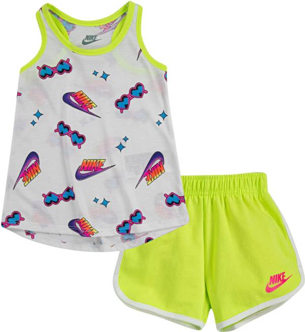 Nike Girls' Printed Tank Top and Shorts 2-Piece Set product image