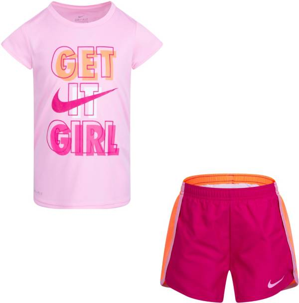 Nike Little Girls' Dri-FIT Get It Sprinter T-Shirt and Shorts Set product image