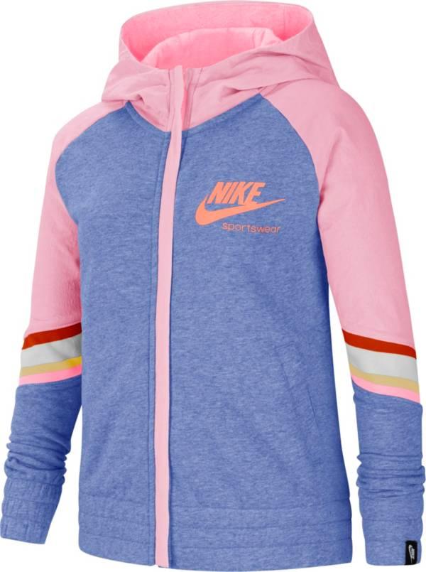 Nike Girls' Sportswear Heritage Full Zip Hoodie product image