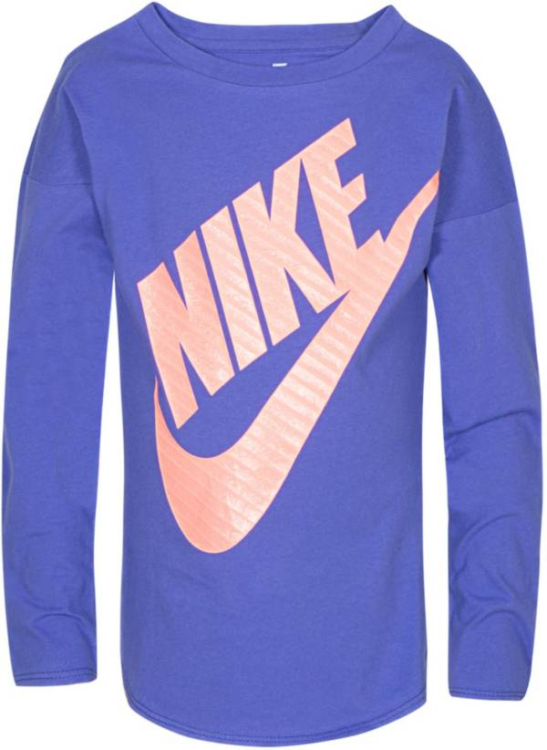 Nike Little Girls' Sportswear Jumbo Futura Long Sleeve Graphic T-Shirt product image