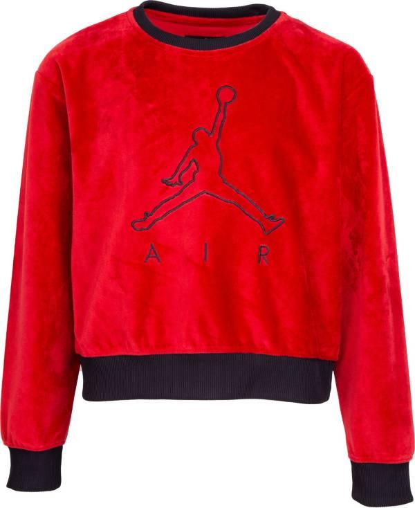 Jordan Girls' Velour Cropped Sweater product image