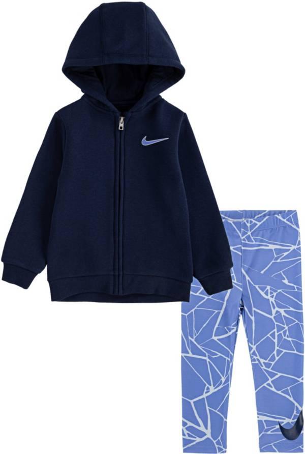 Nike Little Girls' Kintsugi Foil Full-Zip Hoodie and Leggings Set product image