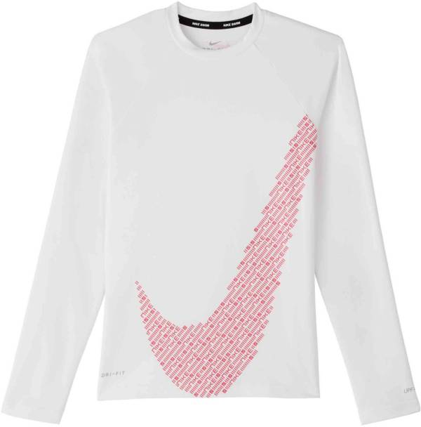 Nike Girls' Long Sleeve Hyrdoguard Rash Guard product image