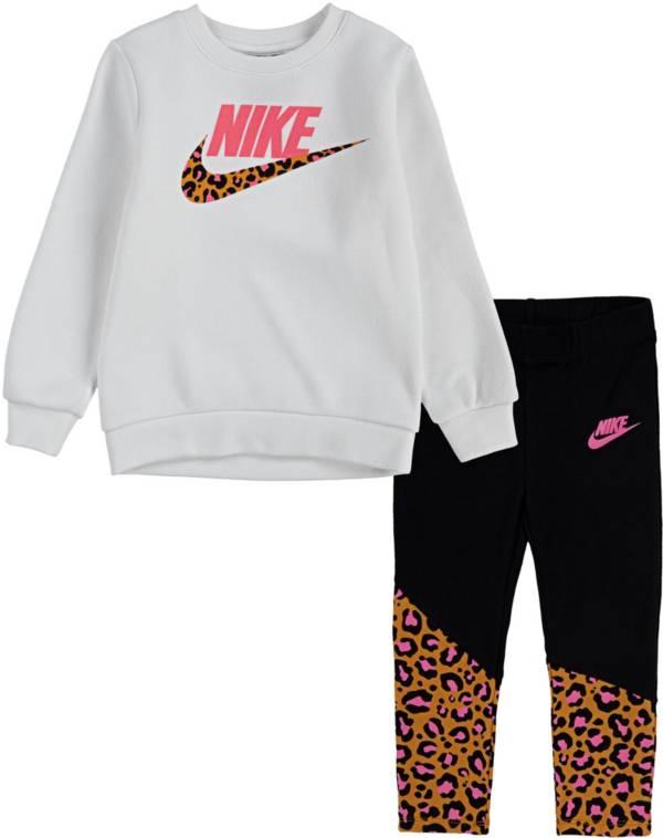 Nike Little Girls' Leopard Tunic Sweatshirt and Leggings Set product image