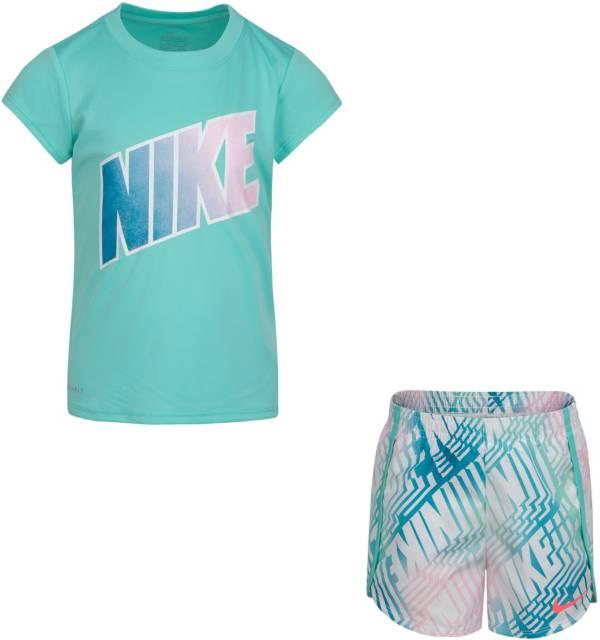 Nike Little Girls' Dri-FIT Laser T-Shirt and Shorts Set product image