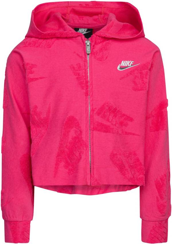 Nike Little Girls' Sportswear Embossed Futura Full-Zip Hoodie product image