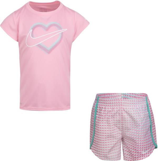 Nike Little Girls' Dri-FIT Pixel T-Shirt and Shorts Set product image