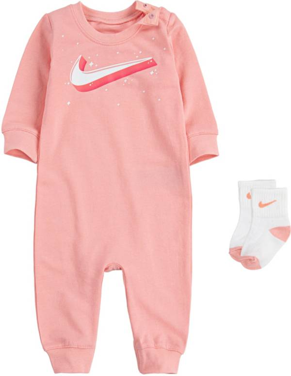 Nike Infant Girls' Swoosh Coveralls and Socks Set product image