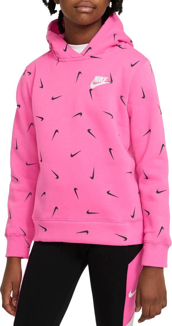 Nike Girls' Sportswear Swooshfetti Pullover Hoodie product image