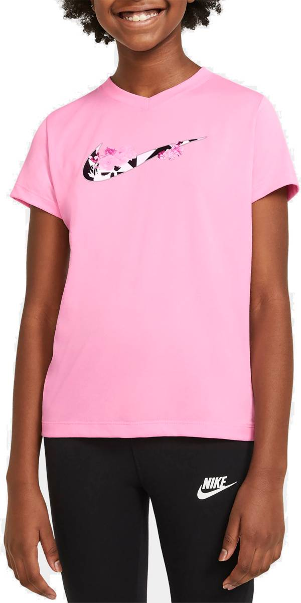 Nike Girls' Dri-FIT Floral Graphic T-Shirt product image