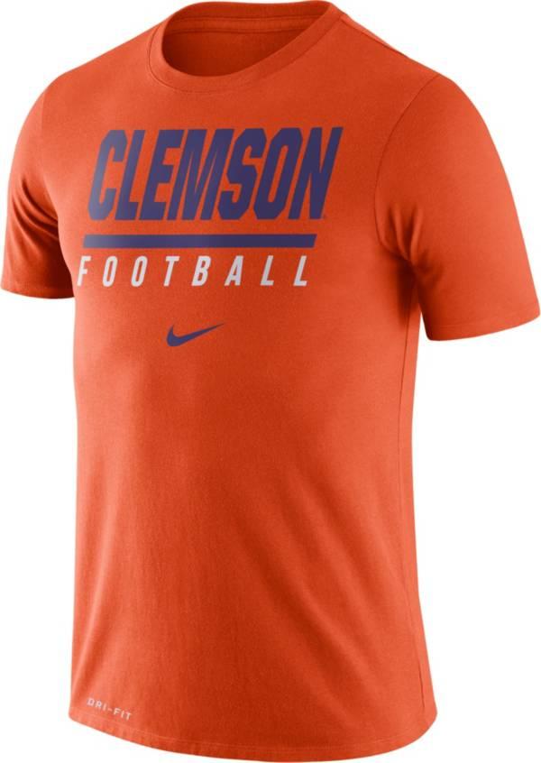 Nike Men's Clemson Tigers Orange Football Icon Wordmark T-Shirt product image