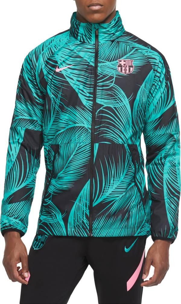 Nike Men's FC Barcelona Green Track Jacket product image