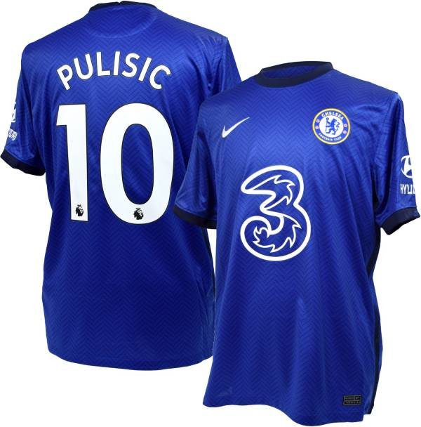 Nike Men's Chelsea FC '20 Christian Pulisic #10 Breathe Stadium Home Replica Jersey product image