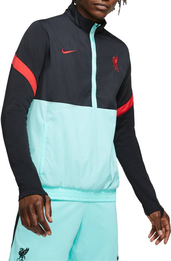 Nike Men's Liverpool Quarter-Zip Black Jacket product image