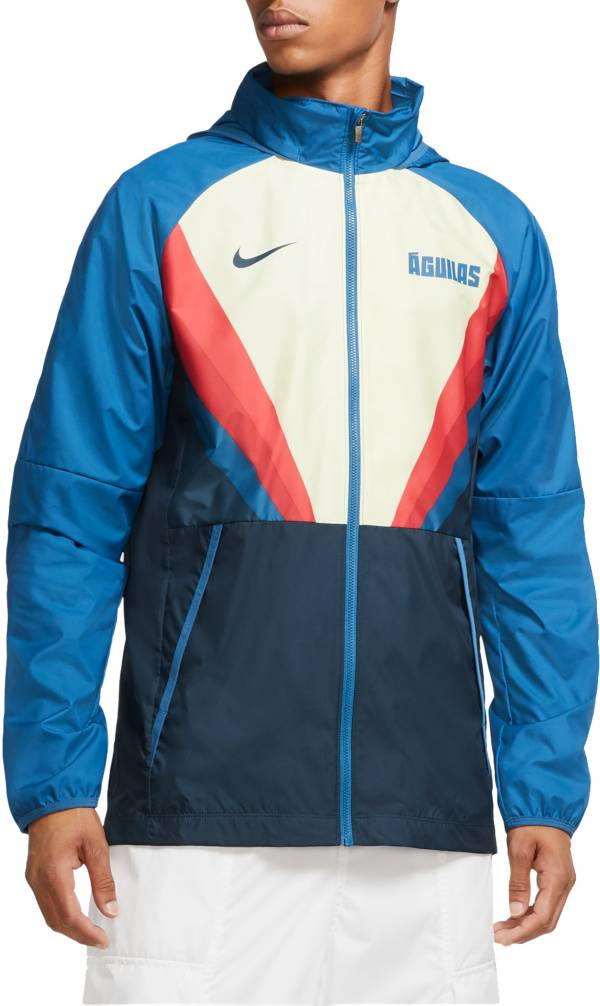 Nike Men's Club America Windbreaker Blue Full-Zip Jacket product image