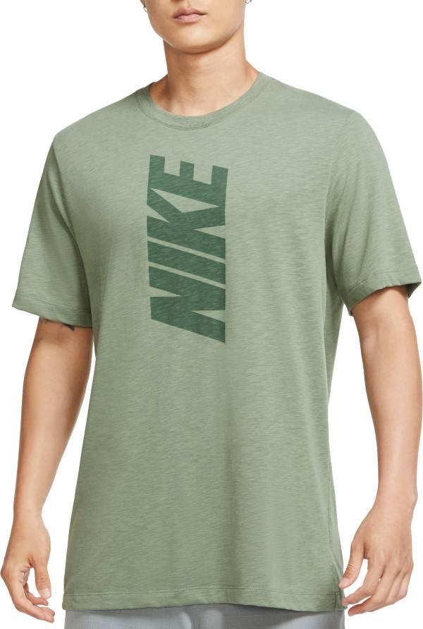 Nike Men's Dri-FIT Cotton Slub Block Logo Training T-Shirt product image