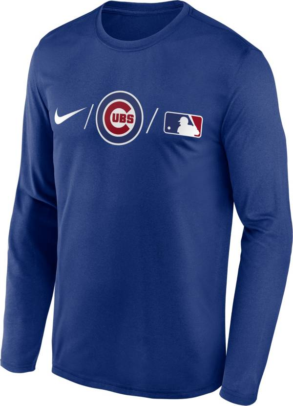 Nike Men's Chicago Cubs Blue Authentic Collection Legend Long Sleeve T-Shirt product image