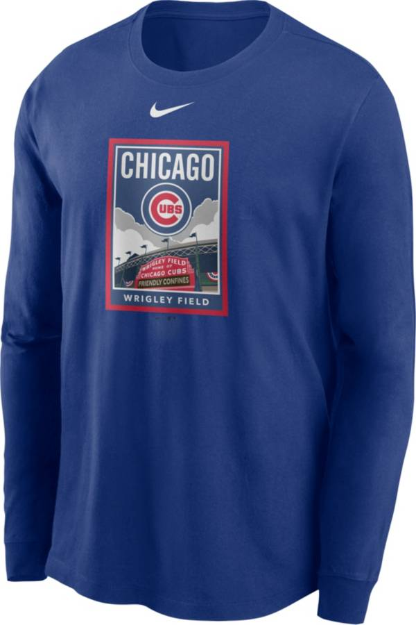 Nike Men's Chicago Cubs Blue Icon Long Sleeve T-Shirt product image