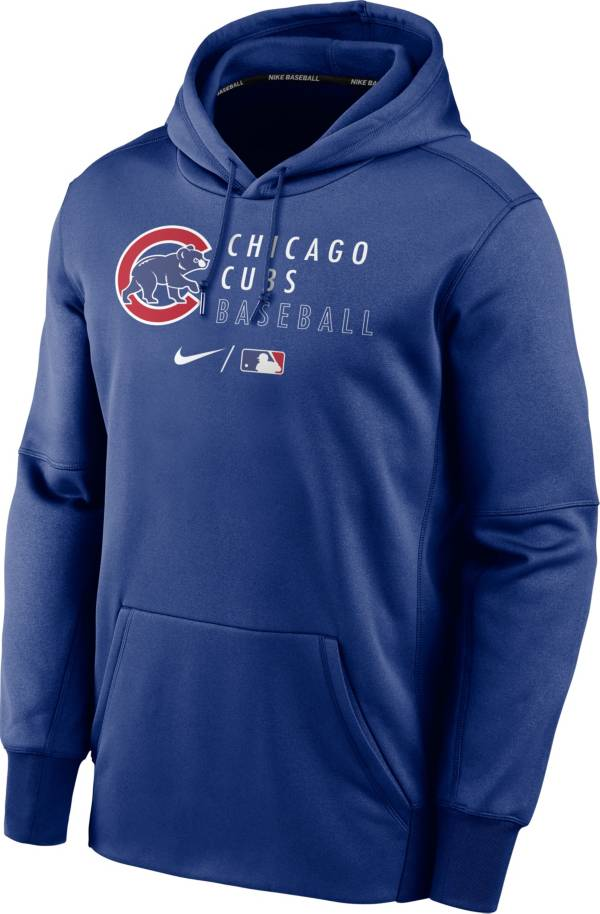 Nike Men's Chicago Cubs AC Therma-FIT Blue Hoodie product image
