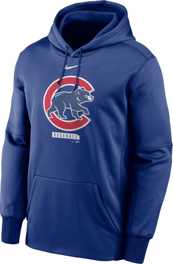 Nike Men's Chicago Cubs Blue Therma Logo Pullover Hoodie product image
