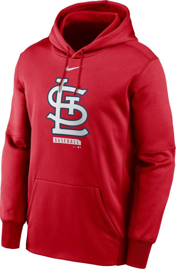 Nike Men's St. Louis Cardinals Red Therma Logo Pullover Hoodie product image