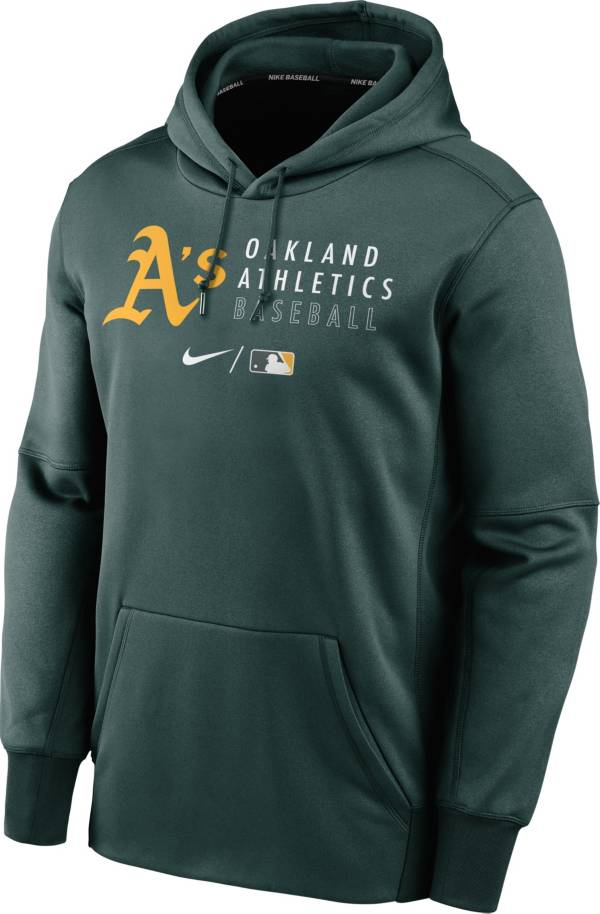 Nike Men's Oakland Athletics AC Therma-FIT Green Hoodie product image