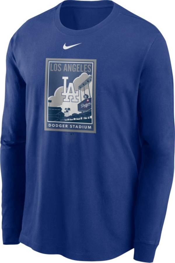 Nike Men's Los Angeles Dodgers Blue Icon Long Sleeve T-Shirt product image
