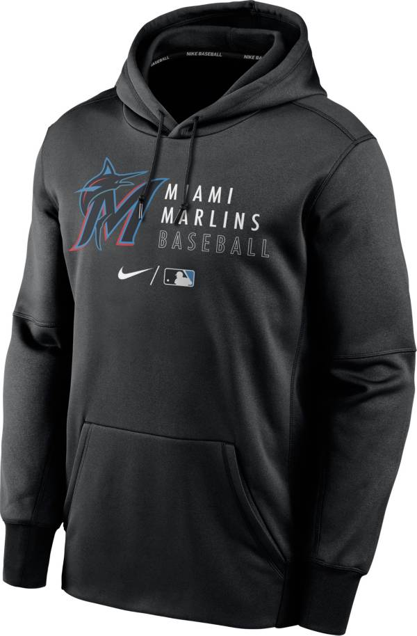 Nike Men's Miami Marlins AC Therma-FIT Black Hoodie product image