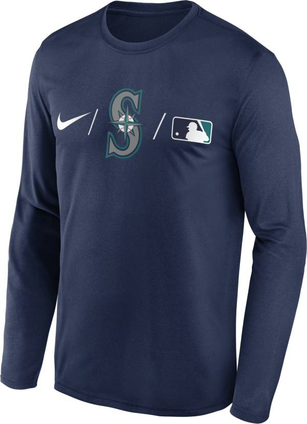 Nike Men's Seattle Mariners Navy Authentic Collection Legend Long Sleeve T-Shirt product image