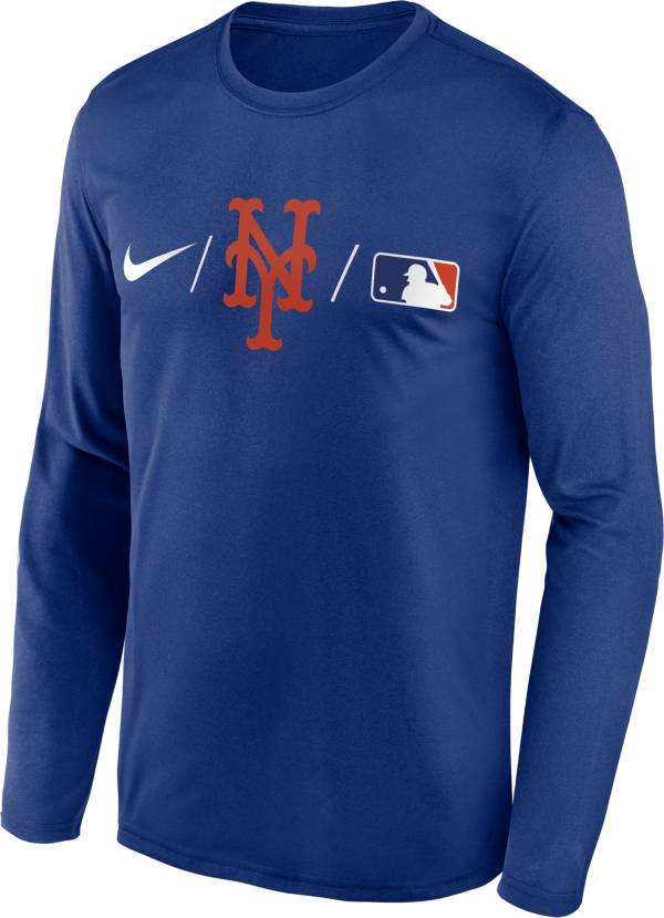 Nike Men's New York Mets Blue Authentic Collection Legend Long Sleeve T-Shirt product image
