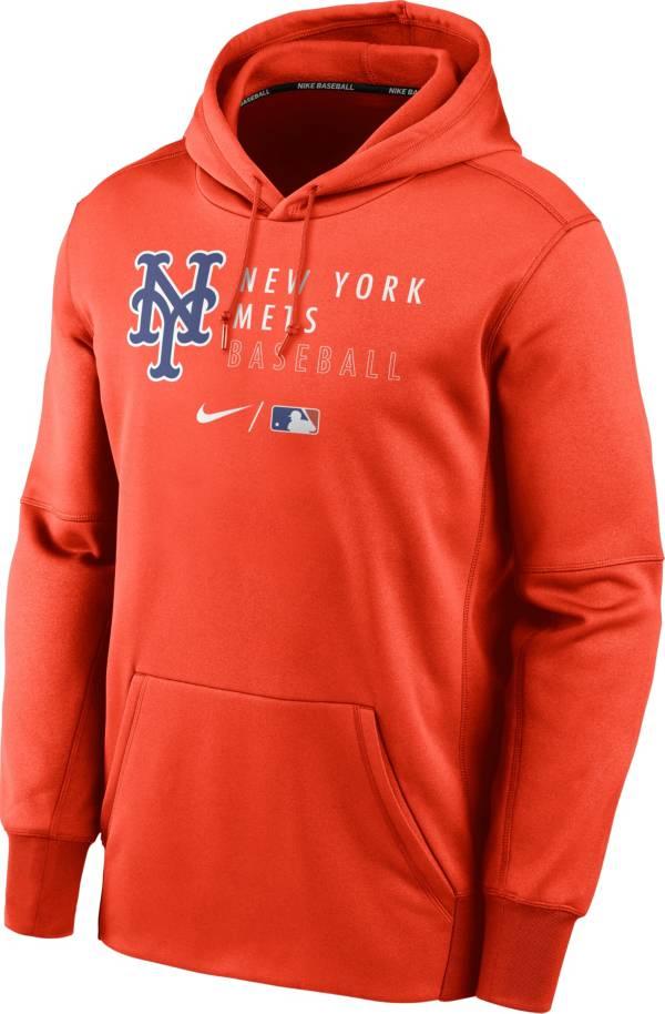 Nike Men's New York Mets AC Therma-FIT Orange Hoodie product image