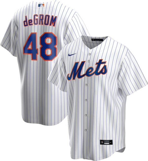 Nike Men's Replica New York Mets Jacob DeGrom #48 Cool Base White Jersey product image