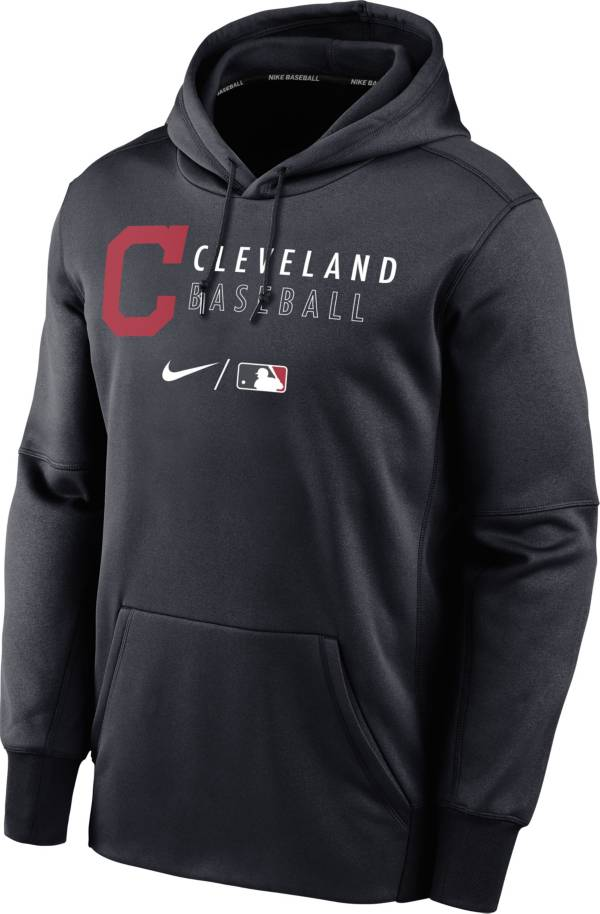 Nike Men's Cleveland Indians AC Therma-FIT Blue Hoodie product image