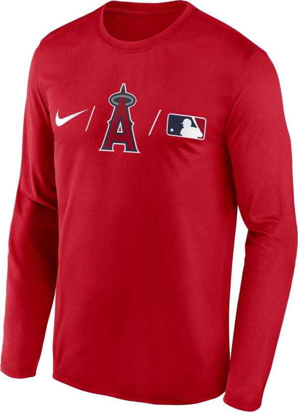 Nike Men's Los Angeles Angels Red Authentic Collection Legend Long Sleeve T-Shirt product image