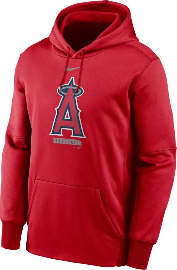 Nike Men's Los Angeles Angels Grey Therma Pullover Hoodie product image