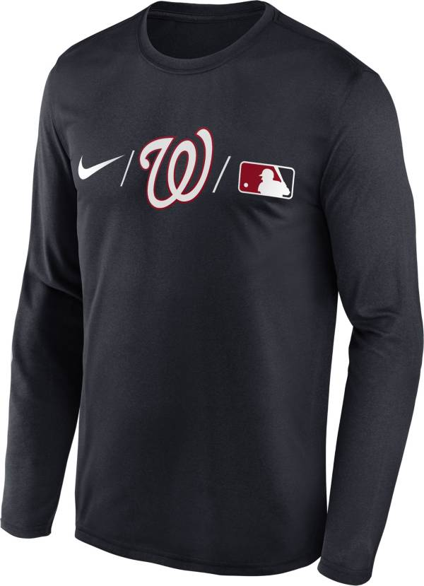Nike Men's Washington Nationals Blue Authentic Collection Legend Long Sleeve T-Shirt product image