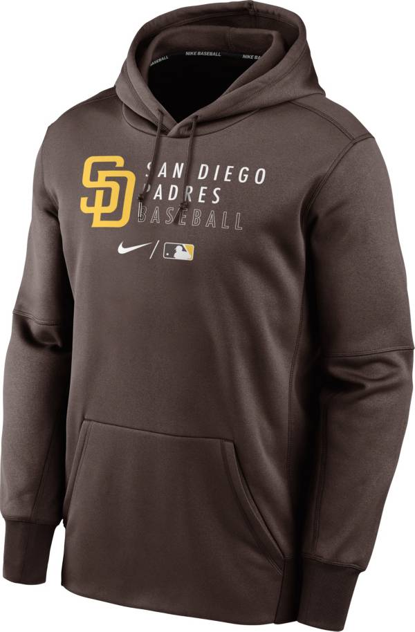 Nike Men's San Diego Padres AC Therma-FIT Brown Hoodie product image