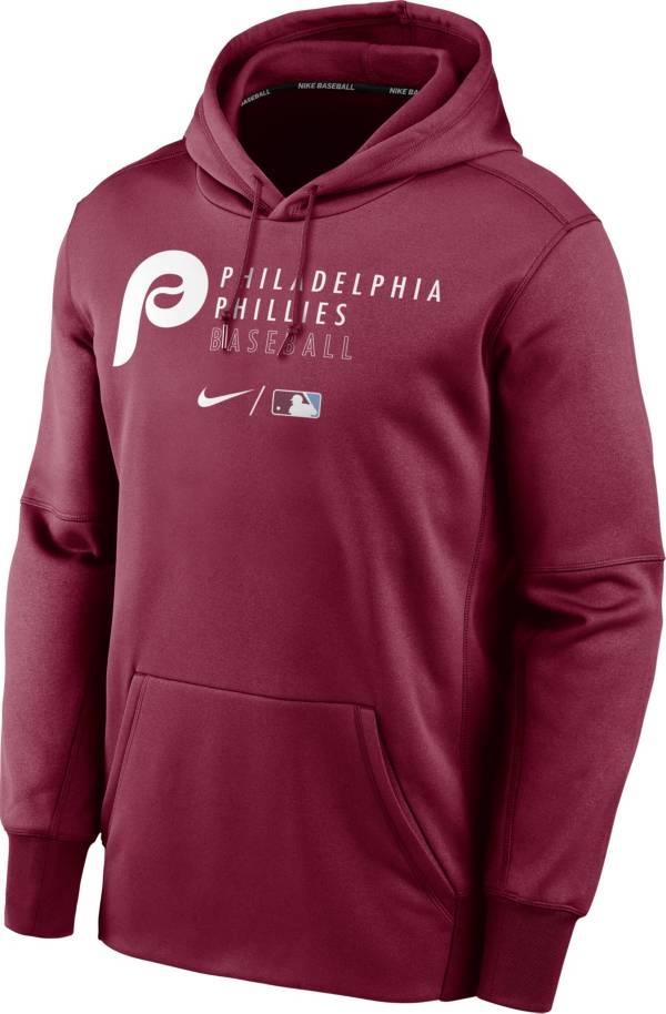 Nike Men's Philadelphia Phillies AC Therma-FIT Maroon Hoodie product image