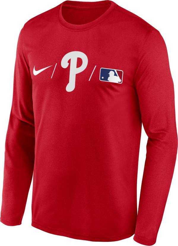 Nike Men's Philadelphia Phillies Red Authentic Collection Legend Long Sleeve T-Shirt product image