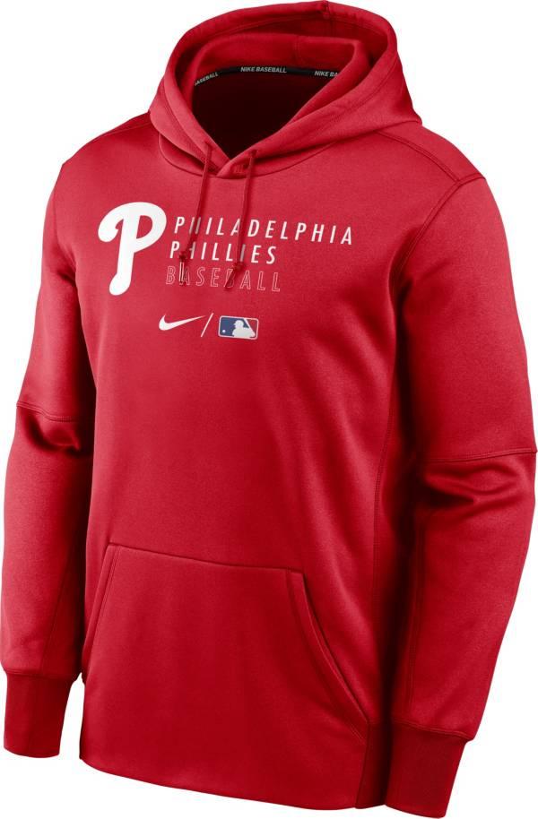 Nike Men's Philadelphia Phillies AC Therma-FIT Red Hoodie product image