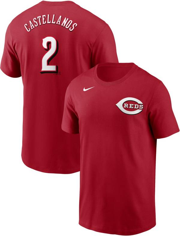Nike Men's Cincinnati Reds Nick Castellanos #2 Red T-Shirt product image