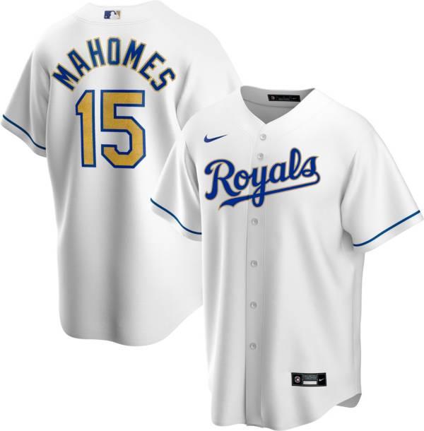 Nike Men's Replica Kansas City Royals Patrick Mahomes Whiite Cool Base Jersey product image